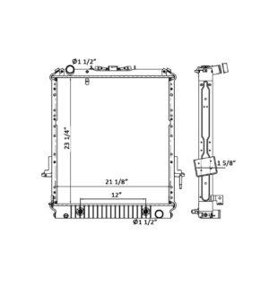 Isuzu NPR / NQR 94-04 Plastic/Aluminum Radiator- OEM: 97044293