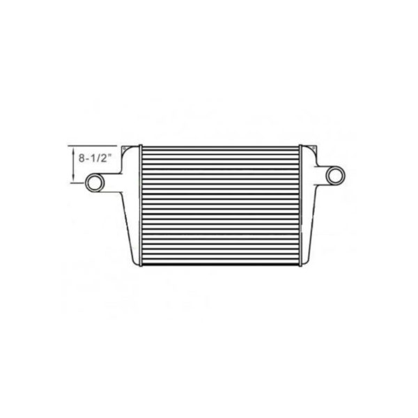 chevygm bluebird charge air cooler 8.50 from top of tank to center of neck charge air cooler oem 1030187