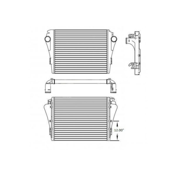 freightliner m2 mm 106 business models 08 13 charge air cooler oem a0525424013