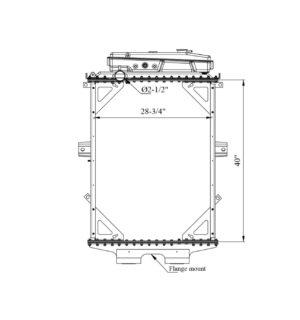 Kenworth W900 / W900l Series W/T Surge Tank Yr: 94-07 Radiator – OEM: 1a020259