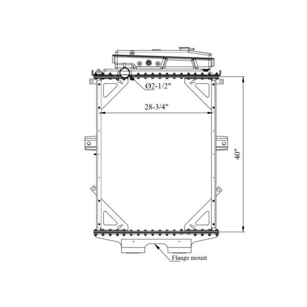 kenworth w900 w900l series wt surge tank yr 94 07 radiator oem 1a020259