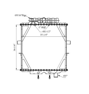 Peterbilt 357/ 375/ 379/ 385w/T Surge Tank Yr: 95-04 Radiator – OEM: 0706657a011